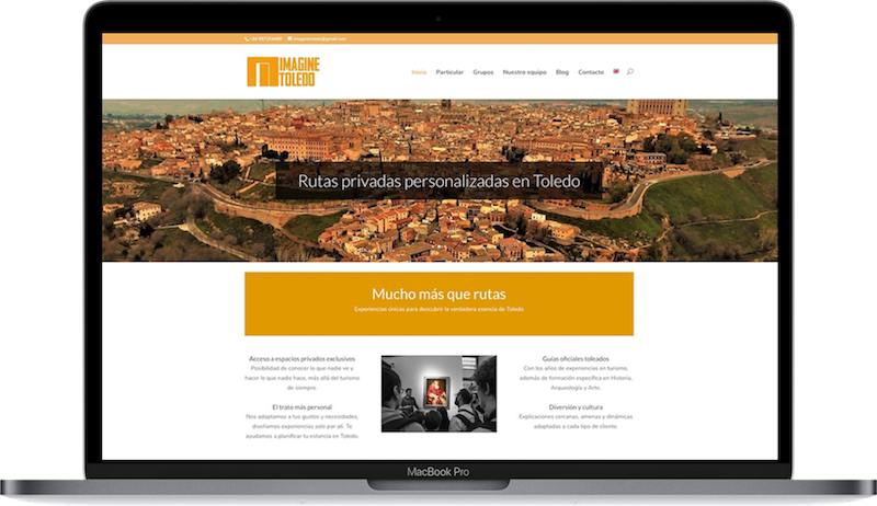 Web de Imagine Toledo