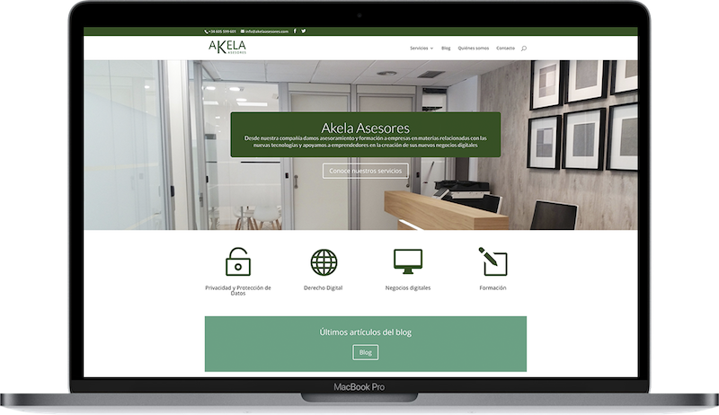 Web de Akela Asesores