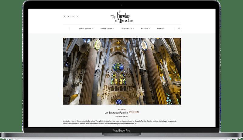 Web de Las Farolas de Barcelona Guía