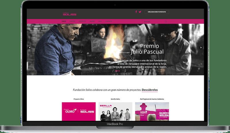Web de Fundación Soliss