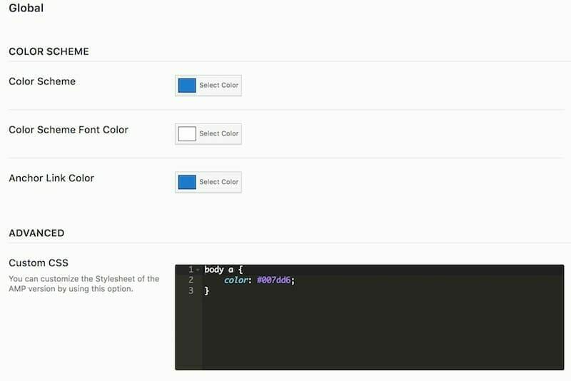 cambiar colores para AMP