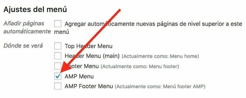 menu amp
